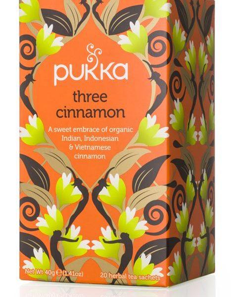 Chá três canelas, 20 saquetas, Pukka