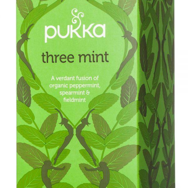 Chá Três Mentas, Pukka