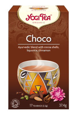 chá chocolate, yogi tea