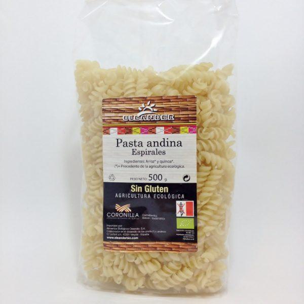 massa arroz e quinoa, bio, sem glúten, oleander