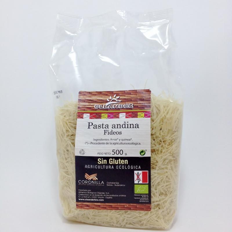 Massa(fideos) arroz-quinoa, bio, sem glúten