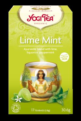 chá lima e menta, yogi tea