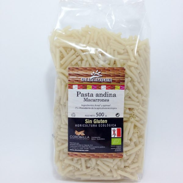 Macarrão de arroz e quinoa, sem glúten, biológico