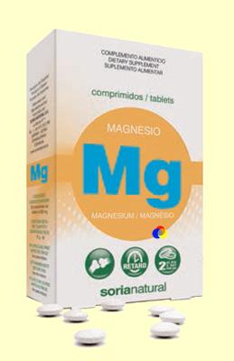 Magnésio (comprimidos), Soria Natural