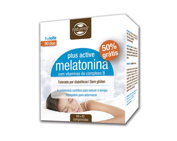 Melatonina plus active, 90 comprimidos, naturmil