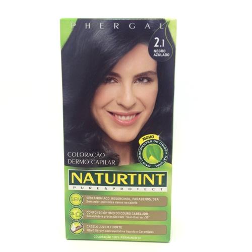 colorante natural cabelo - negro azulado, 2.1