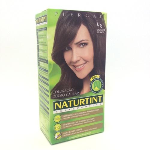 colorante natural cabelo, castanho dourado, 4G