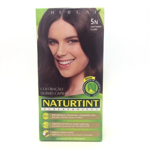 colorante natural cabelo - castanho claro, 5n