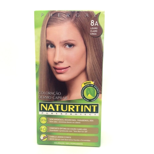 colorante natural cabelo - louro cinza claro, 8a