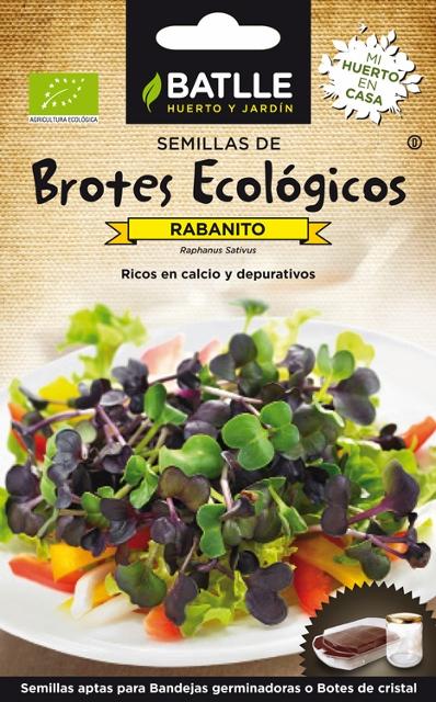 sementes biológicas de rabanetes, batlle