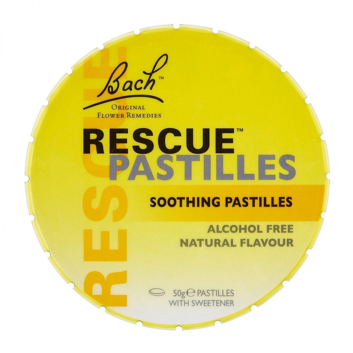 Rescue Pastilhas, sabor natural, Florais de Bach