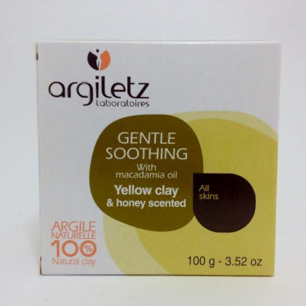 sabonete argila amarela, óleo macadamia - 50% desc.