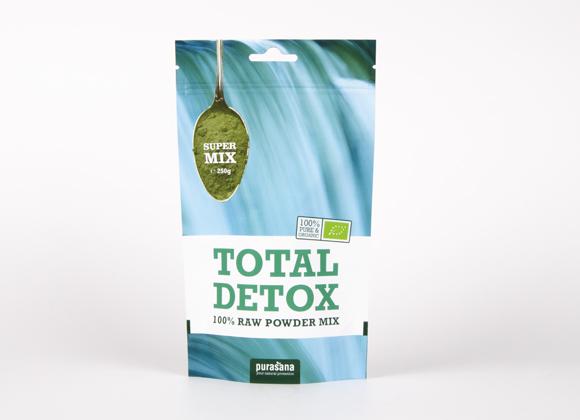 mistura biológica de Superalimentos, total detox