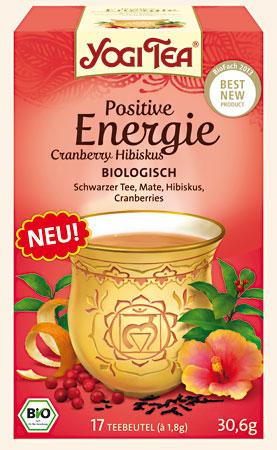 chá energia positiva, yogi tea