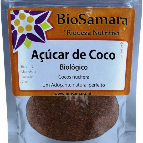 Açúcar de côco biológico125g, BioSamara