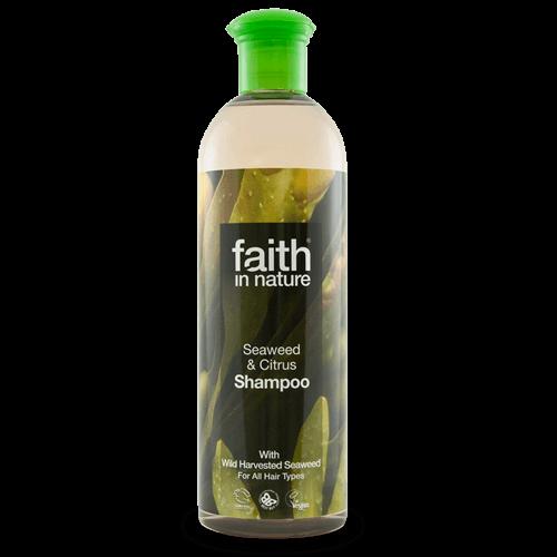 champô biológico, algas e limão, faith in nature