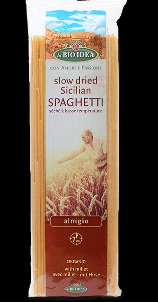 Esparguete com milho painço, La bio idea