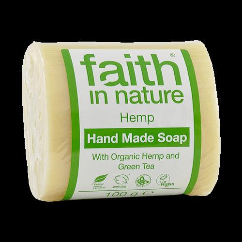 sabonete natural de cânhamo, faith in nature
