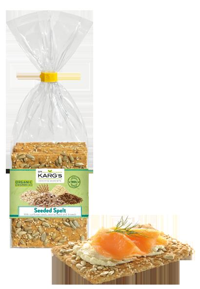 bolachas de espelta biológicas, com sementes