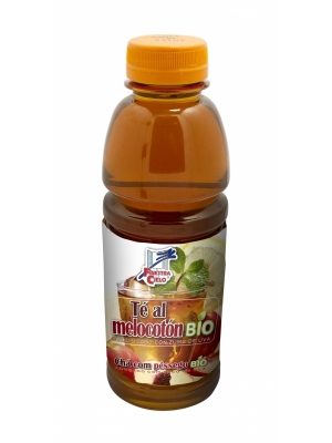 chá de pêssego biológico, c/ sumo de uva, 100ml