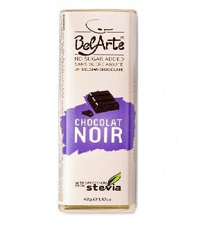 chocolate preto, com stevia, 42g belarte