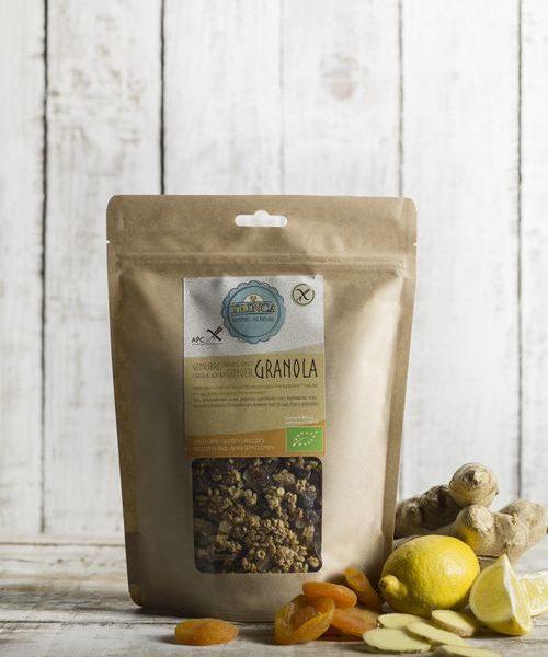 Granola sem glúten - Gengibre, Limão e Alperce