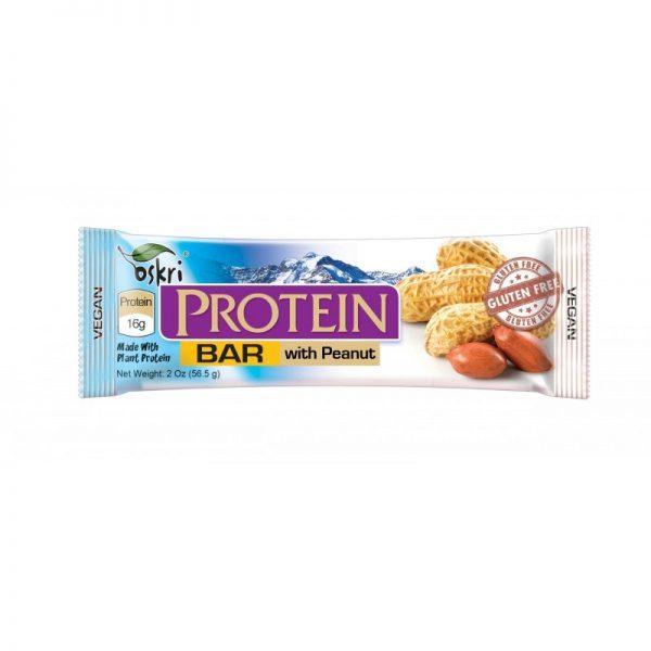 barra proteica, com amendoins, s/ glúten oskri