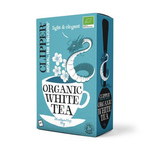 chá branco, biológico, 26 saquetas, clipper