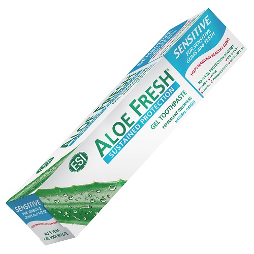 pasta de dentes aloe fresh, sensitive, esi