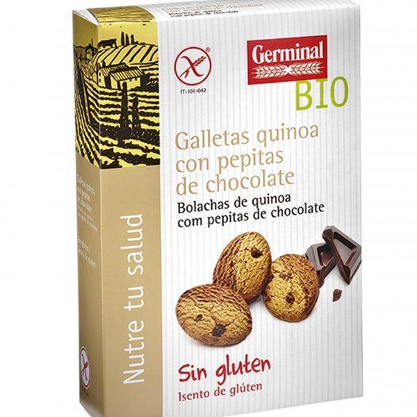 biscoitos quinoa e pepitas de chocolate, sem gluten