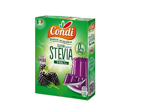 Gelatina, com STEVIA, sabor a Amora