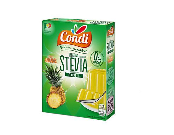 Gelatina, com STEVIA, sabor a Ananás