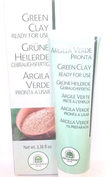 Argila verde, pronta a aplicar, peles oleosas
