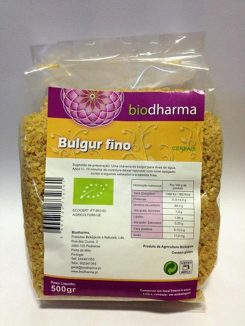 bulgur, biológico, biodharma