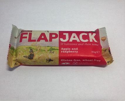 barra de aveia com maçã e framboesa, sem glúten