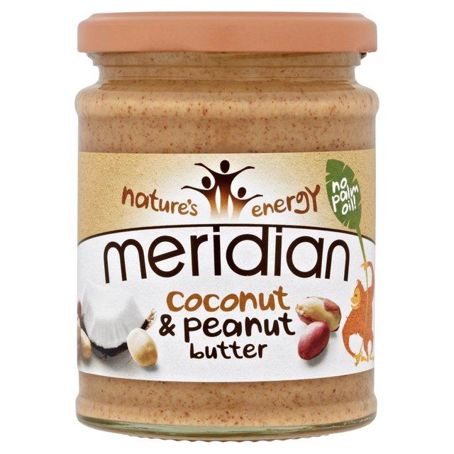 manteiga de amendoim e côco, meridian