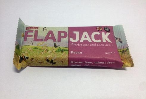 barra de aveia com noz pecan, sem glúten - flapjack