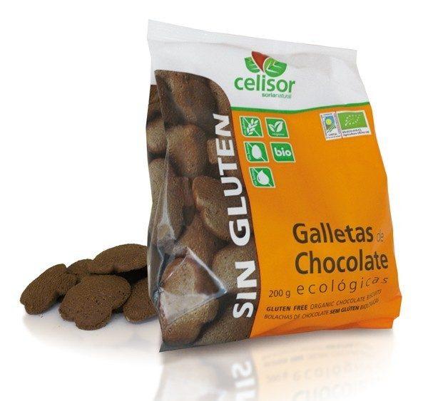 Bolachas de chocolate, sem Glúten, biológicas