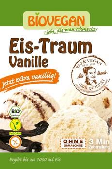 gelado de baunilha vegan, biológico, biovegan