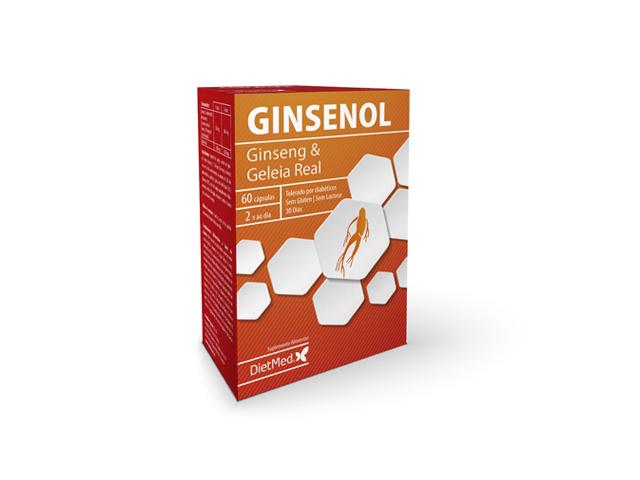 Ginsenol, com ginseng e geleia real, dietmed