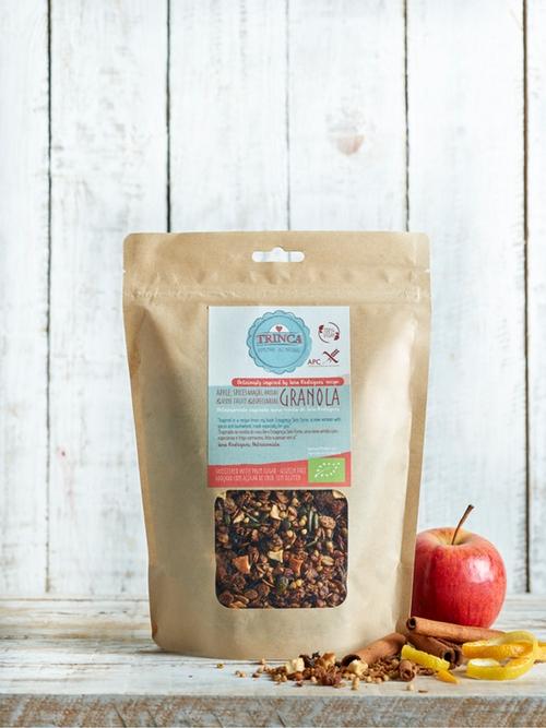 Granola sem glúten - maçã, passas e especiarias