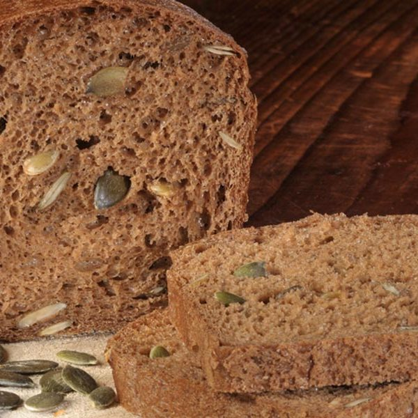 pão de farinha teff, sem glúten, schnitzer