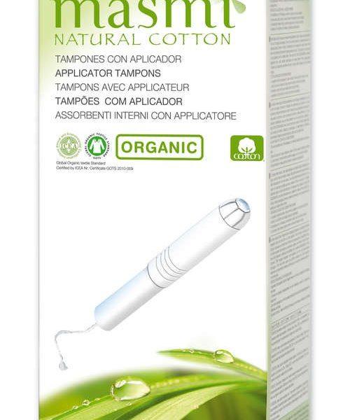 tampões higiénicos algodão, com aplicador, super, masmi