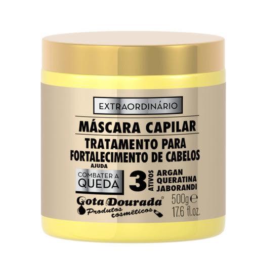 Máscara capilar anti-queda, 500g, gota dourada