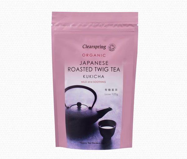 Chá três anos (kukicha), biológico, clearspring