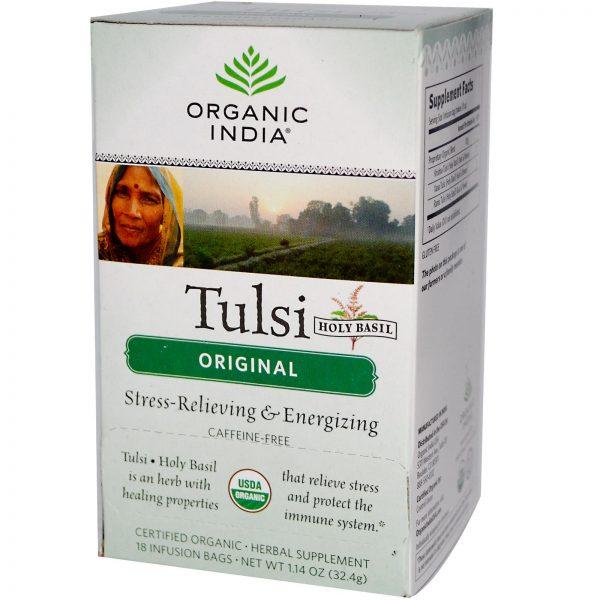 Chá de Tulsi, biológico, saquetas, Organic India