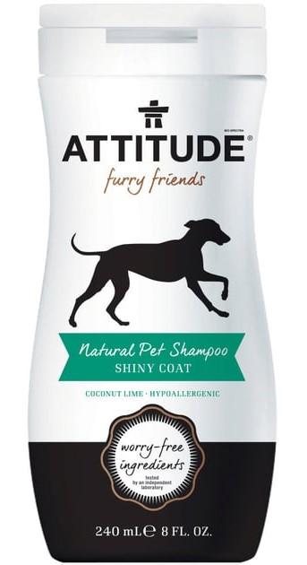 Champô pêlo brilhante p/a animais, 240ml, Attitude