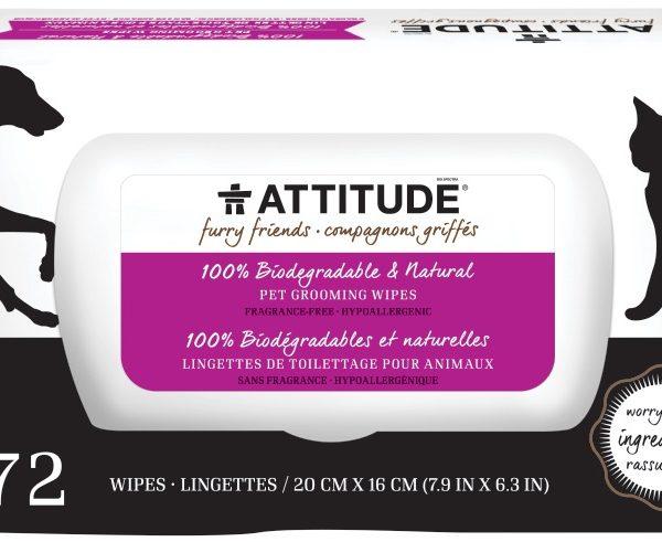 Toalhetes para animais - Attitude Grooming Wipes 72un