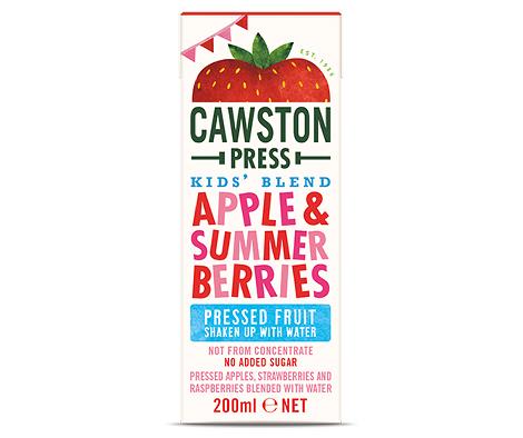Sumo de maçã, morango e amoras, biol., sem açucar