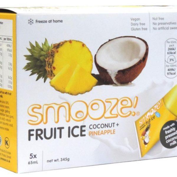 gelados vegan, sem glúten, sem lactose - ananás e côco
